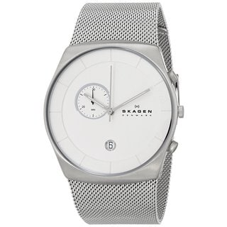 Skagen Men's SKW6071 Havene Chronograph Stainless Steel Silver Watch