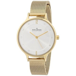 Skagen Women's SKW2150 Anita Quartz 3 Hand Stainless Steel Gold Watch