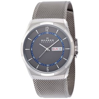 Skagen Men's SKW6078 Melbye Analog Grey Dial Stainless Steel Mesh Bracelet Watch|https://ak1.ostkcdn.com/images/products/9437294/P16622996.jpg?_ostk_perf_=percv&impolicy=medium