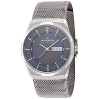 Skagen Men's  Melbye Analog Grey Dial Stainless Steel Mesh Bracelet Watch