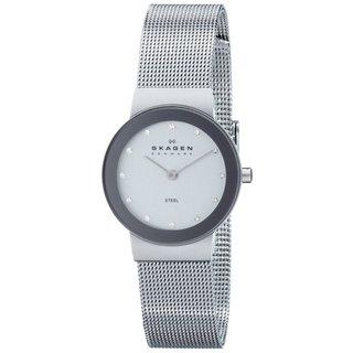 Skagen Women's 358SSSD Freja Quartz 2-hand Stainless Steel Silver Watch|https://ak1.ostkcdn.com/images/products/9437295/P16622997.jpg?_ostk_perf_=percv&impolicy=medium