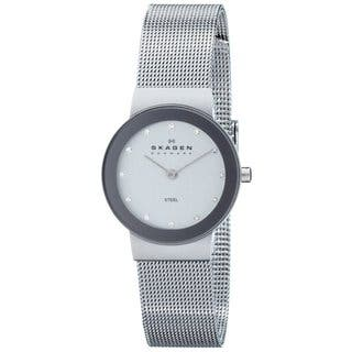 Skagen Women's 358SSSD Freja Quartz 2-hand Stainless Steel Silver Watch|https://ak1.ostkcdn.com/images/products/9437295/P16622997.jpg?impolicy=medium