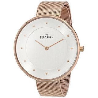 Skagen Women's SKW2142 Gitte Quartz Two-hand Stainless Steel Rose Gold Watch