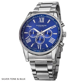 Akribos XXIV Men's Multifunction Tachymeter Stainless Steel Bracelet Watch (More options available)