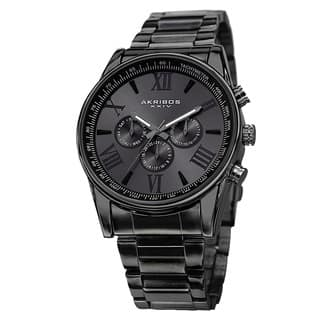 Akribos XXIV Men's Multifunction Tachymeter Stainless Steel Bracelet Watch with FREE GIFT|https://ak1.ostkcdn.com/images/products/9437322/P16623054.jpg?impolicy=medium
