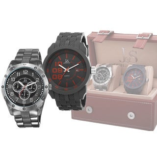 Joshua & Sons Men's Quartz Multifunction Strap/Bracelet Watch Set