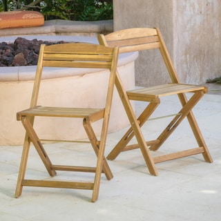 Christopher Knight Home Riviera Wood Folding Chair (Set of 2)