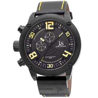 Joshua & Sons Men's Multifunction Double-Layered Dial Leather Strap Watch with FREE GIFT|https://ak1.ostkcdn.com/images/products/9437365/P16623064.jpg?impolicy=medium