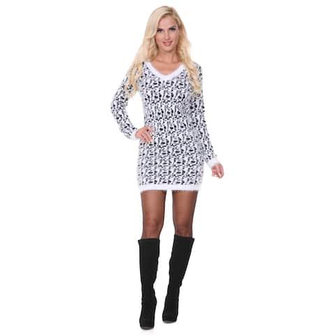 Women's White Mark Sweater Dress