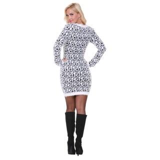 White Mark Women's Angora Sweater Dress