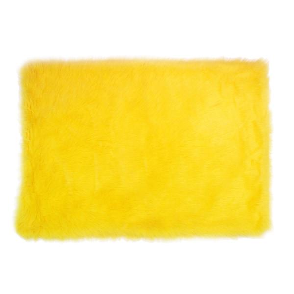 Bright Yellow Nylon Accent Area Rug 2 6 X 3 9 Free