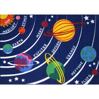 Space Galaxy Multicolored Nylon Accent Rug (2'6 x 3'9)