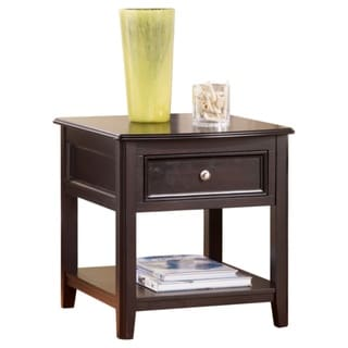 Carlyle Contemporary Rectangular End Table Almost Black