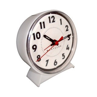 WestClox White Keywound Alarm Clock