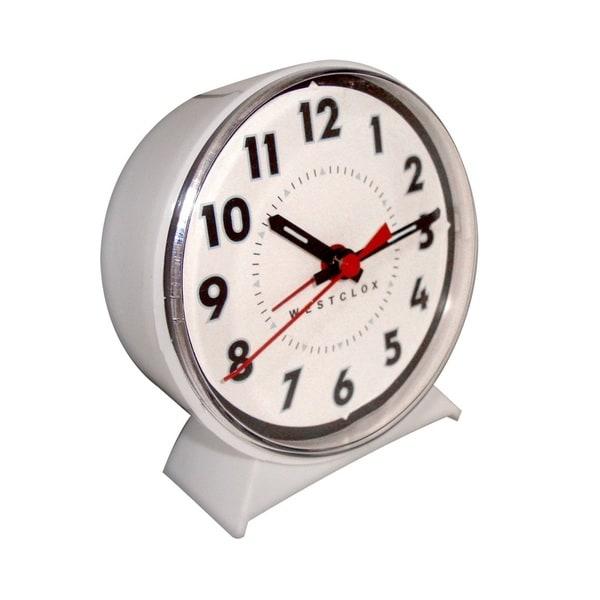 WestClox White Keywound Alarm Clock