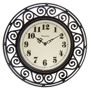 WestClox 12-inch Detailed Wall Clock