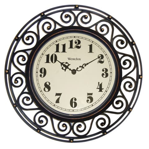 WestClox 12-inch Detailed Wall Clock