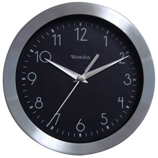 WestClox 9-inch Brushed Metal Wall Clock