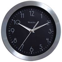 WestClox 9-inch Brushed Metal Wall Clock