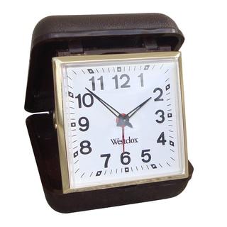 WestClox Brown Travel Keywound Alarm Clock