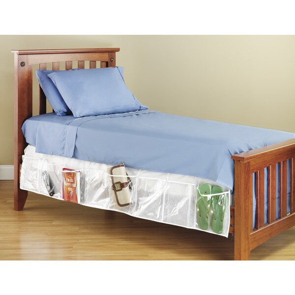 Clear Plastic Bed Skirt Organizer