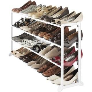 Whitmor White Resin 20-pair Shoe Rack
