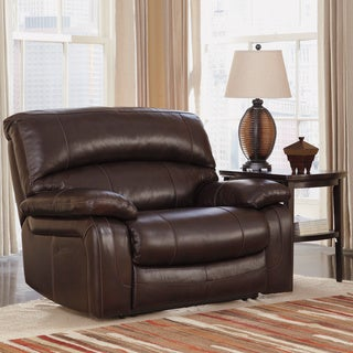 Signature Design by Ashley Damacio Dark Brown Zero Wall Power Wide Recliner