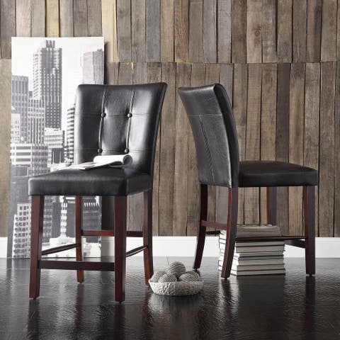 Colyton Bonded Leather High Back Counter Height Stool (Set of 2) by iNSPIRE Q Classic