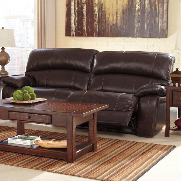 Ashley Furniture Thanksgiving Sale: Shop Signature Design By Ashley Damacio Dark Brown 2-seat