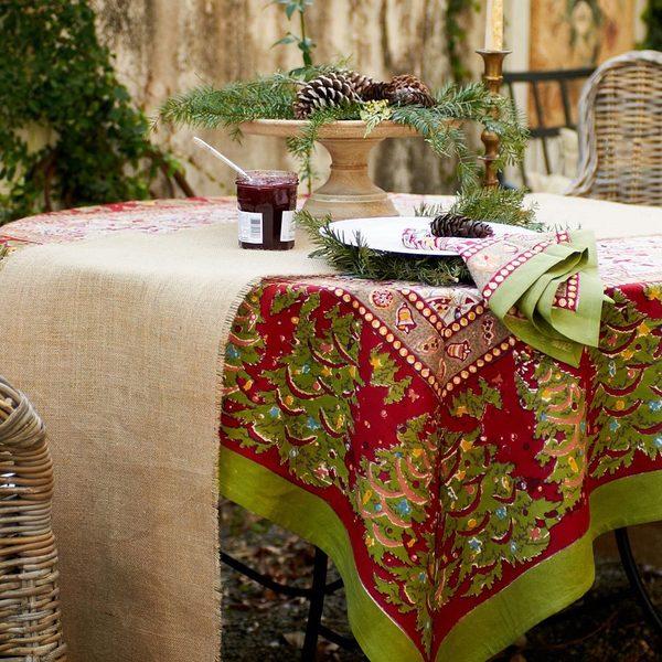 Shop Couleur Nature Noel Square Tablecloth On Sale