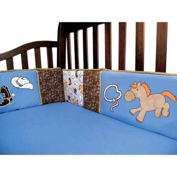 Trend Lab Baby Cowboy Blue Crib Bumper