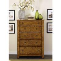 Gracewood Hollow Morrison Cabin Aged Oak 5-drawer Chest