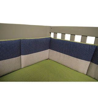 Trend Lab Perfectly Preppy Green Crib Bumpers