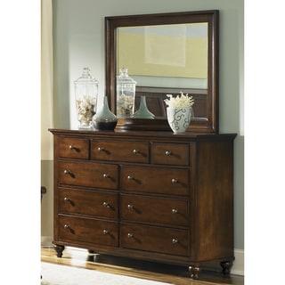 Liberty Hamilton Cinnamon 9-Drawer Dresser and Mirror Set