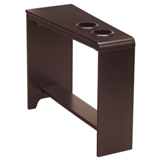 Signature Designs by Ashley Carlyle Almost Black Chair Side End Table