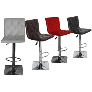 Ellie Adjustable Swivel Bar Stool (Set of 2)