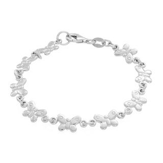 Sterling Essentials Sterling Silver Children's Butterfly Link Bracelet
