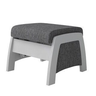 Dutailier California Opaque/ Ash Grey Urban Ottoman