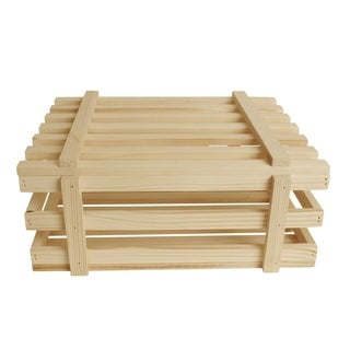 Wald Imports 11.5-inch Wood Crate (set of 3)