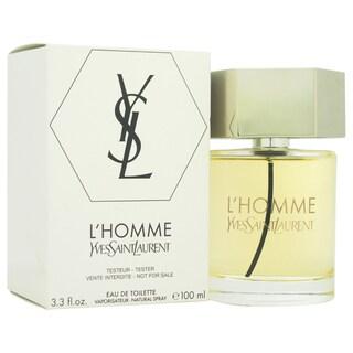 Yves Saint Laurent L'Homme Men's 3.3-ounce Eau de Toilette Spray (Tester)