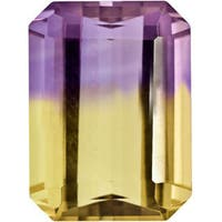 4 3/5ct TGW Octagonal Emerald-cut Ametrine Stone (9 x 11 mm)