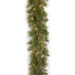 Atlanta Spruce 9-foot Garland with 50 Clear Lights
