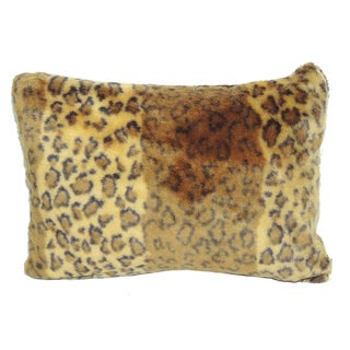Rectangular Faux Fur Tiger Print Decrative Throw Pillow