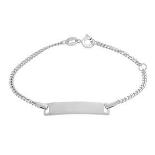 Sterling Essentials Sterling Silver Baby Curb Link ID Bracelet