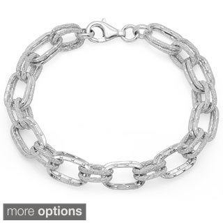 Sterling Essentials Solid Double Link Bracelet
