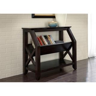 Antique Black Three Shelf Solid Wood Bookshelf Free