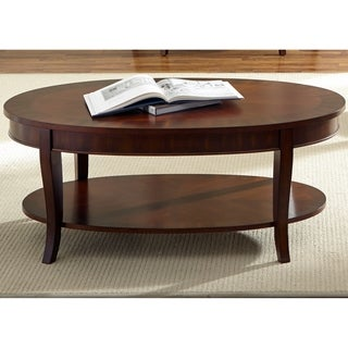 Rich Cherry Oval Cocktail Table