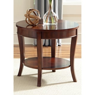 Rich Cherry Round End Table