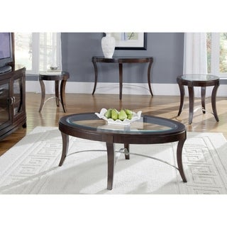 Avalon Dark Truffle Oval End Table