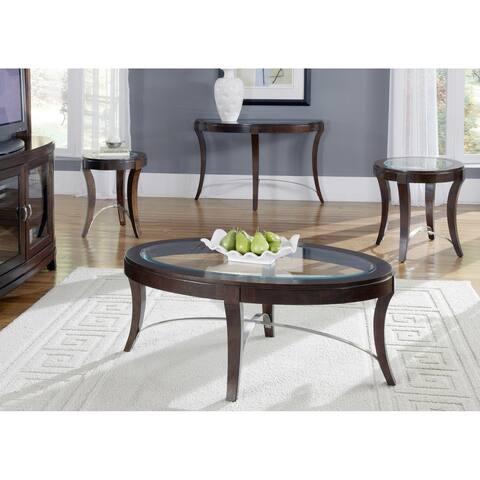 Avalon Dark Truffle Oval Cocktail Table